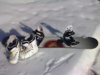 Prodám snowboard + boty Burton