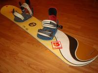 Snowboard komplet HOOGER 149cm bazar ZÁRUKA